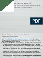 PP Sur La Dissertation Sur Oeuvre a Partir de La Princesse de Cleves Sujets Exemples de Problematiques Extraits de Copies a Ameliorer Propositions d Activites
