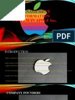 Management Information System in Apple Inc