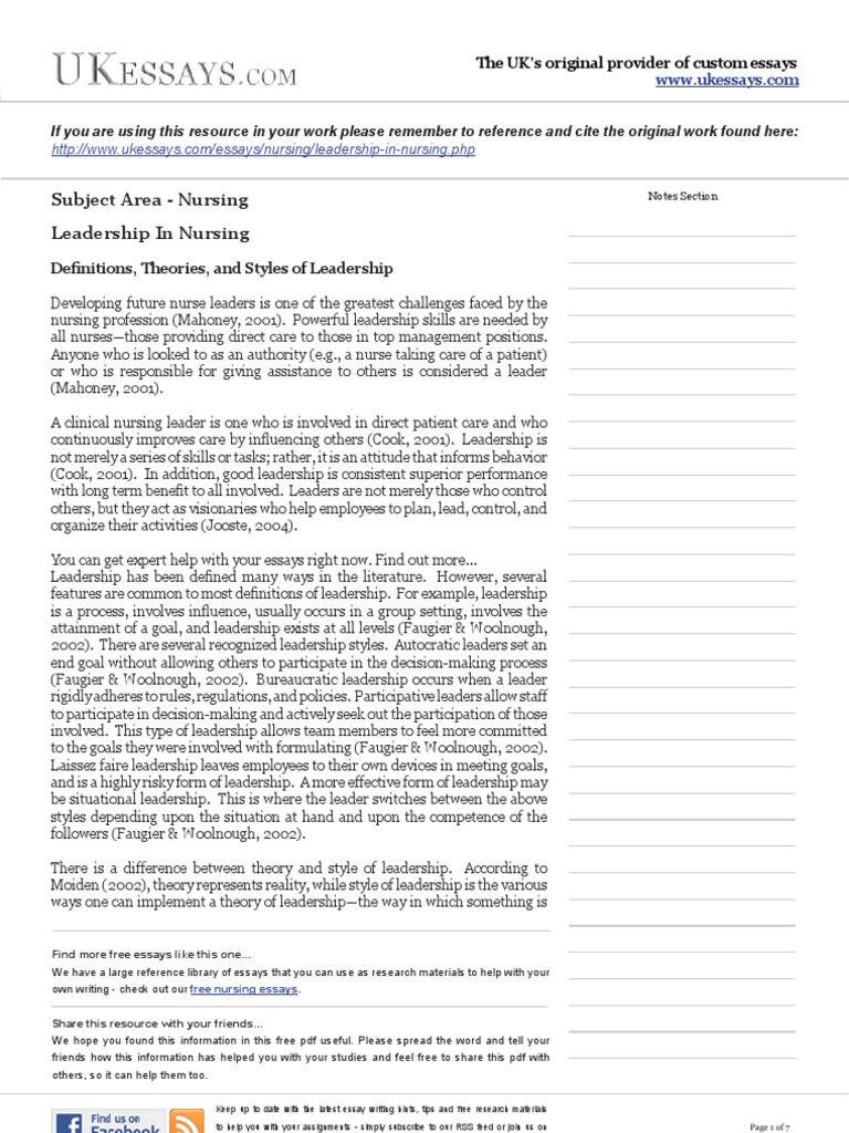 Nursing Essays  Leadership In Nursing  Transformational Leadership  Nursing Essays  Leadership In Nursing  Transformational Leadership   Leadership  Mentoring