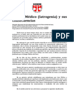 El Acto Médico (Iatrogenia) y sus consecuencias