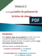Droit cambiaire Lettre de change séance 4