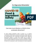 COVID-19 și Siguranța Alimentelor - Care este riscul infecției cu COVID-19 din produsele alimentare?