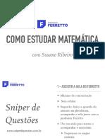 Como Estudar Matematica Na Plataforma Professor Ferretto