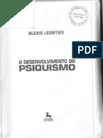 LEONTIEV, A. N. - O Desenvolvimento Do Psiquismo