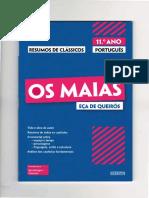 Português 11º - Eça de Queirós - Os Maias (resumo) Sebenta (1)