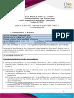 Guia de actividades y Rúbrica de evaluación Paso 1 - Contextualización