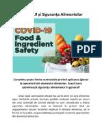 COVID-19 și Siguranța Alimentelor - Carantina poate limita controalele privind aplicarea igienei la operatorii din domeniul alimentar. Acest lucru subminează siguranța alimentelor în general?