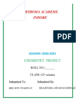chemistry project file