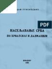 Naseljavanje Srba po  Hrvatskoj i Dalmaciji - Adam Pribićević