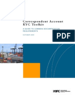 Correspondent Account Know Your Customer Toolkit