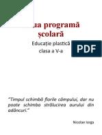 12. Noua Programa Scoalara Ed Plastica