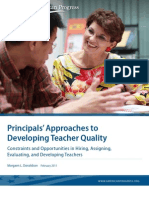 Principals' Approaches to Developing Teacher Quality