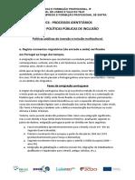 Cp4 - Processos Identitários Dr3 – Políticas Públicas de Inclusão