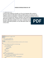 METHODES DE RESOLUTIONS DE  CSP2