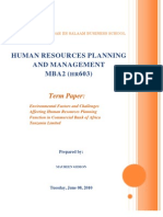 Human Resources Planning and Management - Paper