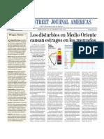 Los Disturbios en Medio Oriente Causan estragos en Los Mercados