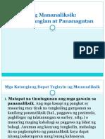4. Ang Mananaliksik - Mga Katangian at Pananagutan