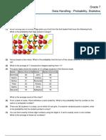 Grade 7 Data Handling Probability Statistics