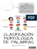Carteles teoría clasificación morfológica bonitos