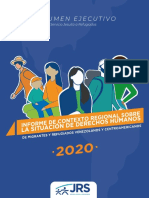 Resumen Ejecutivo - Informe situación DDHH de migrantes y refugiados 2020
