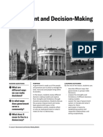 Lesson 1 Government and Decision Making