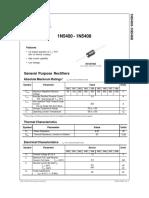 1N5400 - 1N5408, Diodes DataSheet
