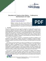 Harmônicos de Tensão no Setor Elétrico – Verificação da Instrumentação em Campo