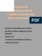 Administracion de Carbon Por Sonda Nasogastrica