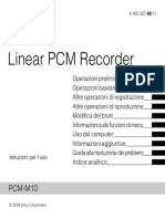 SONY PCM M10 Manuale
