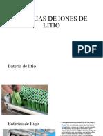 BATERIAS DE IONES DE LITIO