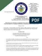 Press Release, WPD Patrolman Sublett Charged, 2.8.21