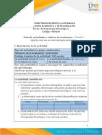 Tarea  2 -  Aportes teóricos a la Antropología psicológica.