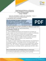 Guía de actividades y rúbrica de evaluación - Unidad 1- Tarea 2- Elementos teóricos de la Etnopsicología