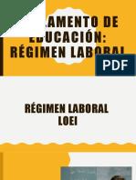 Unidad 3 Tema 1 Reglamento de Educación Regimen Laboral