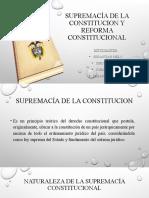 SUPREMACÍA Y REFORMA CONSTITUCIONAL