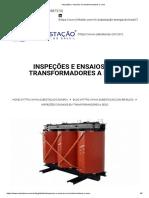 Inspeções e ensaios em transformadores a seco