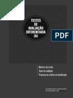 Dossiê Do Professor - Testes de Avaliação Diferenciada (a)