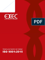 Sistema de Gestión de ISO 9001-015