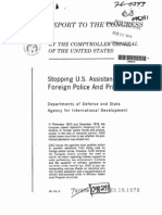 1976 US Comptroller General Report on Ending US Support for Foreign Police Training Programs