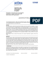Avaliação Da Microestrutura e Das Propriedades Magnéticas de Ferrita de Cobre Dopada Com Chumbo Sinterizada Com Fase Líquida