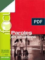 Focus Paroles en Situation Livre