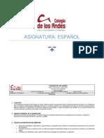 Plan de Aula Grado 8c Español Bim i 2021