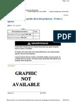 Válvula de alivio (respaldo dirección primaria) - Probar y ajustar