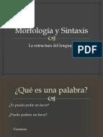 8 Morfología y sintaxis
