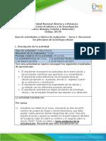 Guia de actividades y Rúbrica de evaluación - Unidad 1 - Tarea 1 - Reconocer los principios de la biología celular