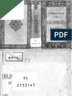 Francisco A. Commelerán. Crestomatía latina de autores sagrados y profanos. Elegidos, anotados y gradualmente dispuestos 1888