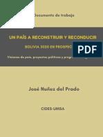 Un pais a reconstruir y reconducir - JNP 2020