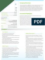 AEFI Investor Factsheet