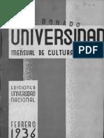 Revista de la Universidad febrero-1936