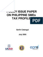 Policy Issue Paper on Philppine Smes Tax Profile